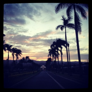 Beautiful Laie sunset, December 2012